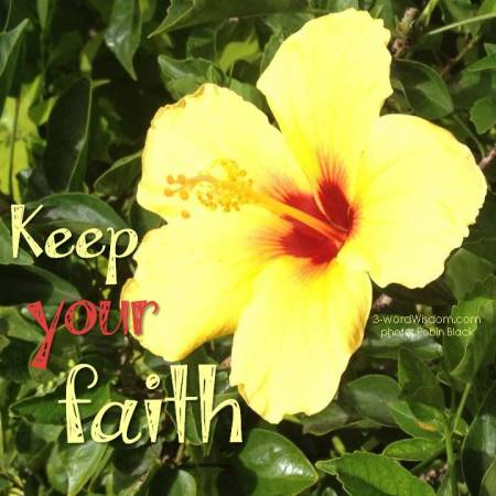 keep your faith