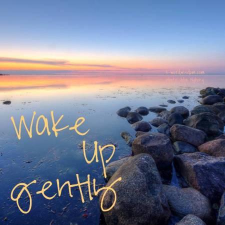 wake gently