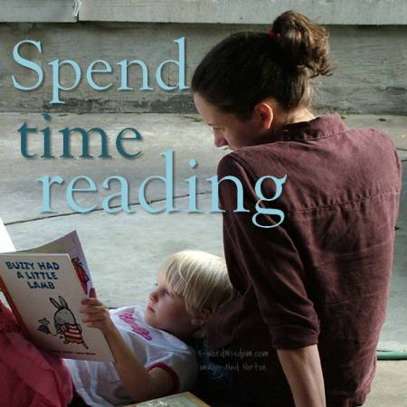 spend time reading