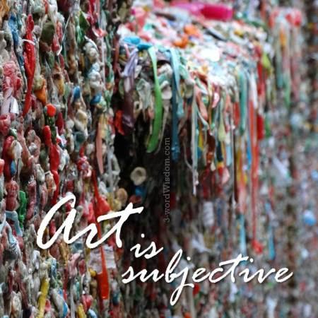 art is subjective
