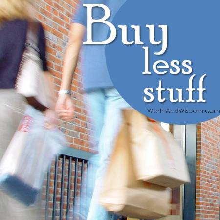 buy less stuff
