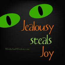 Jealousy steals joy