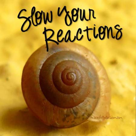 slow your reactions