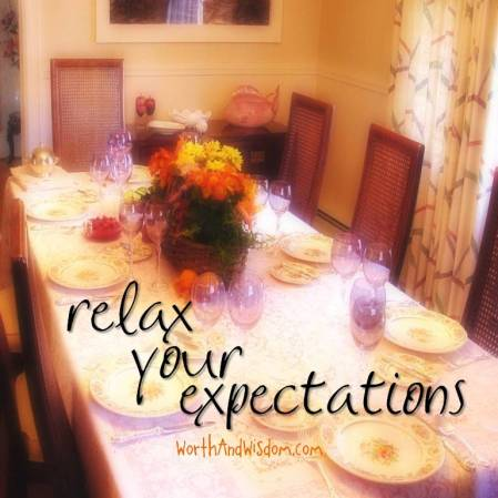 relax your expectations