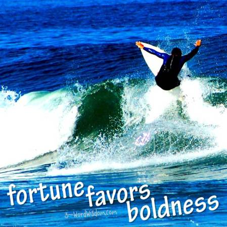 fortune favors boldness