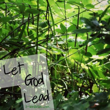 let God lead