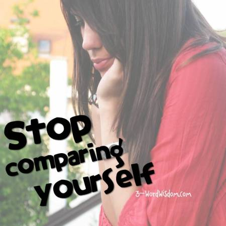 stop comparing
