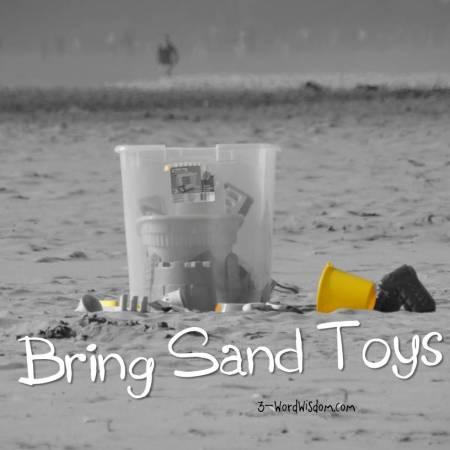 bring sand toys