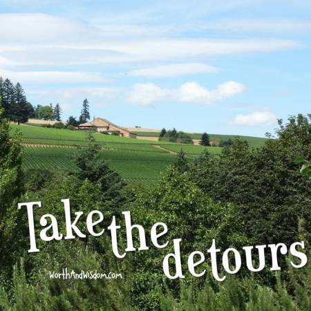 take the detours