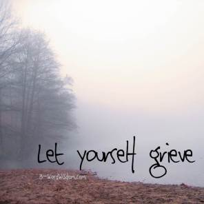let yourself grieve