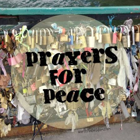 prayers for peace paris