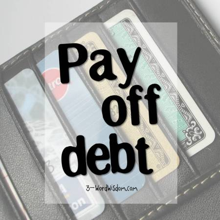 pay off debt