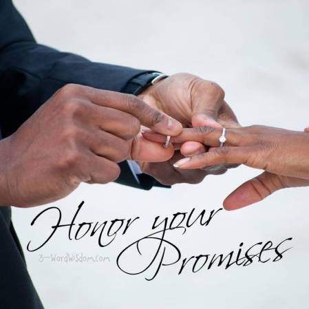 honor your promises